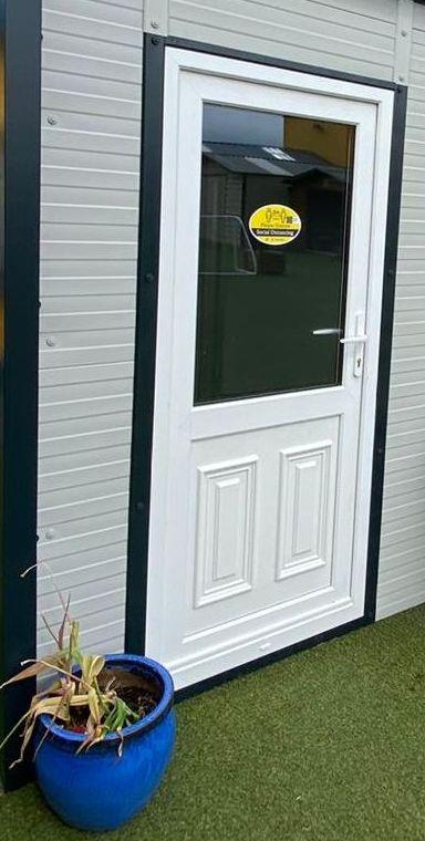 Half Glass PVC Door