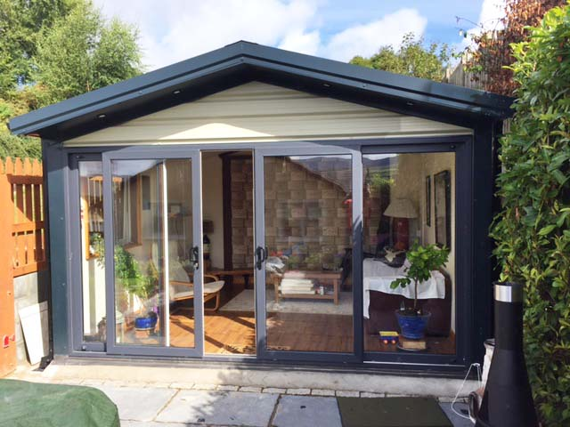 This Man Cave in Co Wicklow is created with a Steeltech Sheds 4m x 4m Garden Studio Unit.