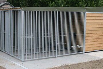 Timber Ifill Dog Kennel with run.